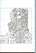 Illustration Cahier de Coloriage Gustav Klimt